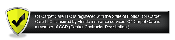 Registered, licensed and insured with the state of Florida